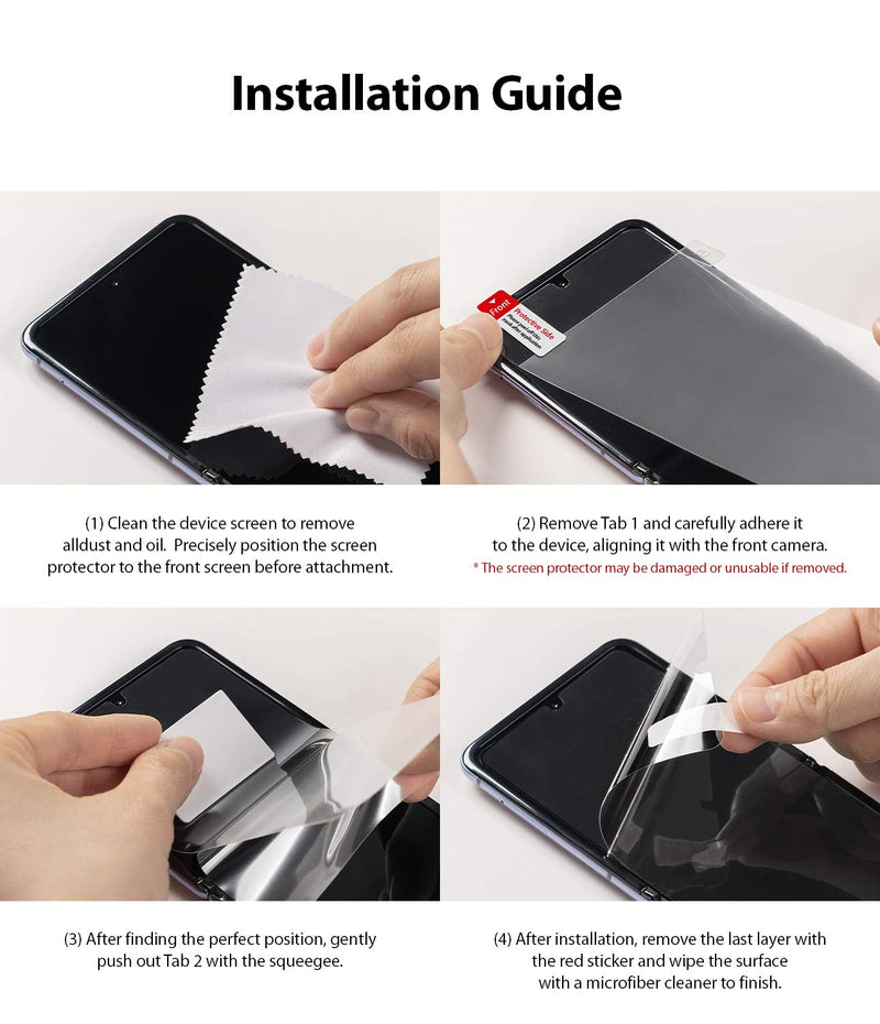 Ringke Invisible Defender for Galaxy Z Fold 2 Screen Protector (2020)