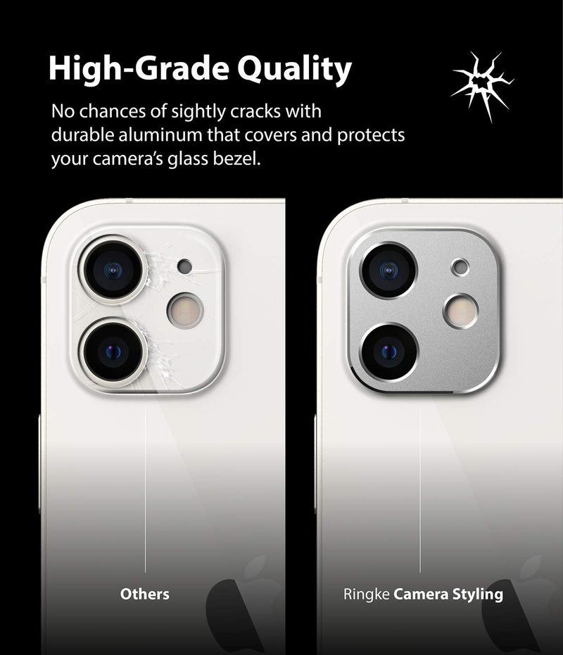 Ringke Camera Styling for iPhone 12 Aluminum Frame Camera Lens Protector