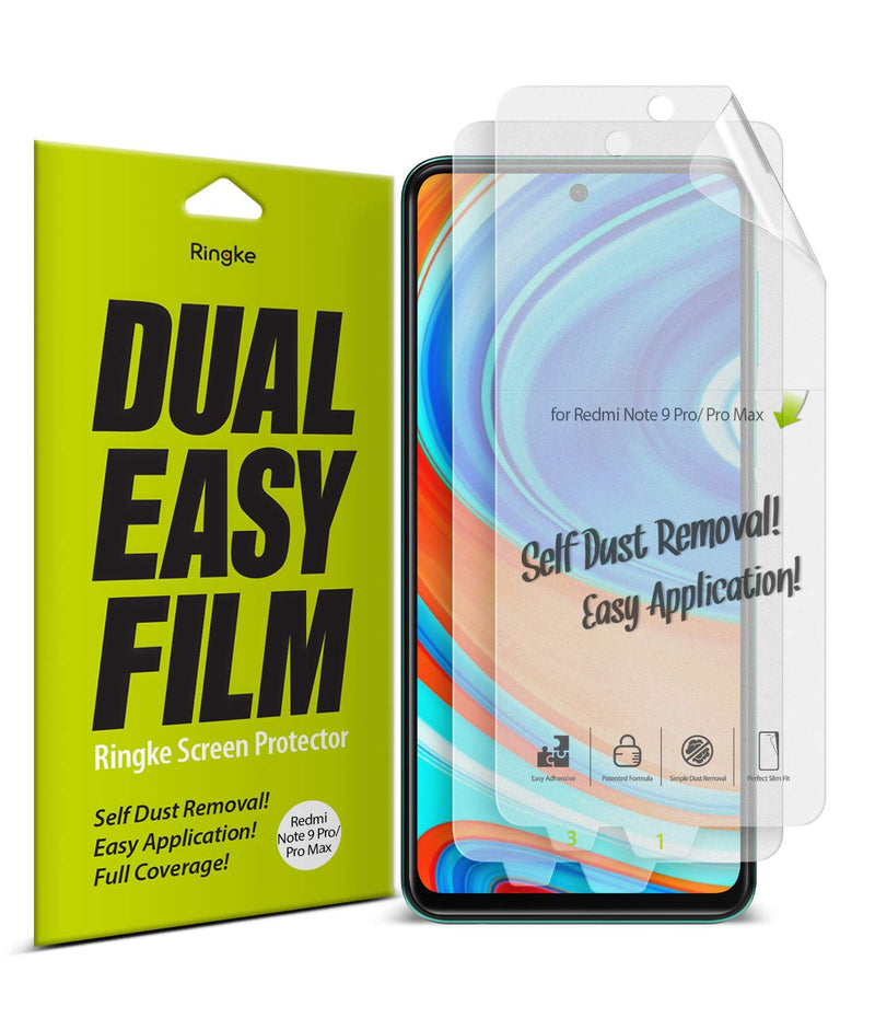 Ringke Dual Easy Film (2 Pack) Designed for Xiaomi Poco M2 Pro Screen Protector