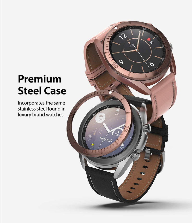 Ringke Bezel Styling for Galaxy Watch 3 41mm Bezel Ring Adhesive Cover Anti Scratch Stainless Steel Protection for Galaxy Watch 3 41mm Accessory