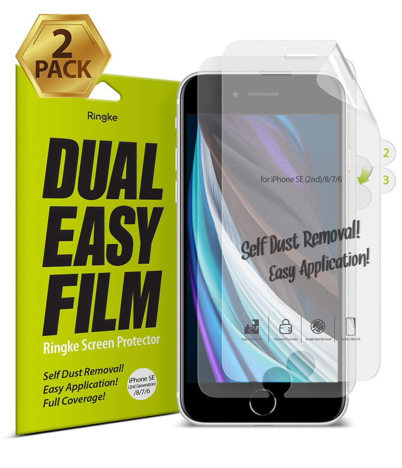 Ringke Dual Easy Film Screen Protector [2-Pack] for iPhone SE 2020 / iPhone 7 / iPhone 8