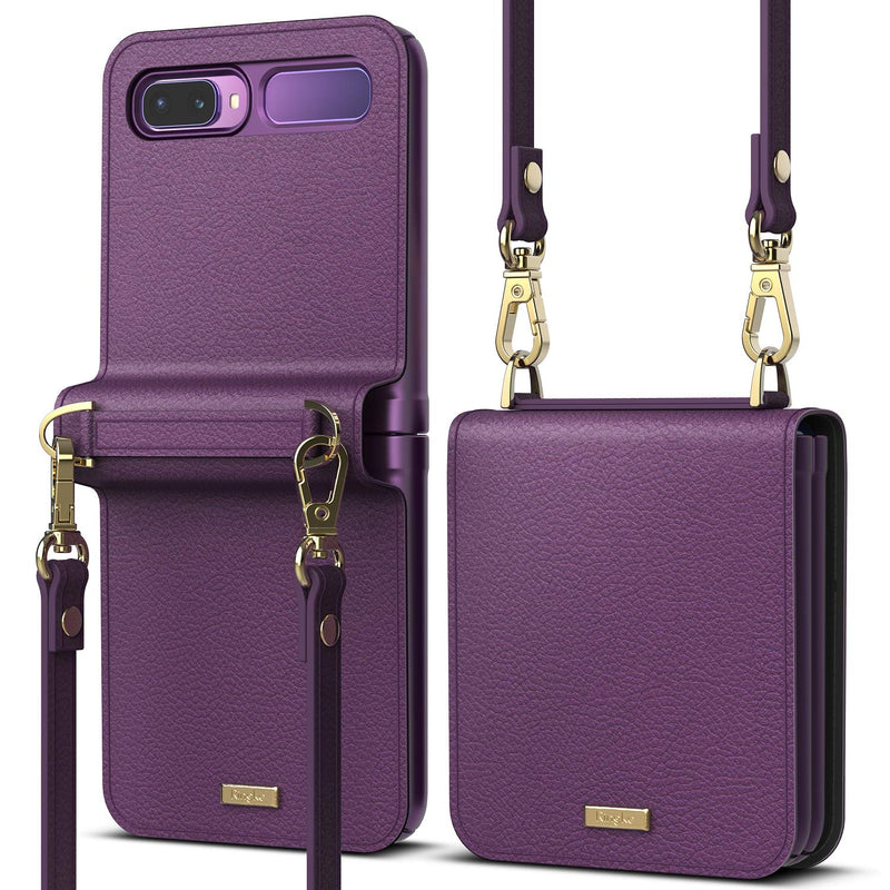 Ringke Folio Signature Designed Leather Crossbody Case for Galaxy Z Flip