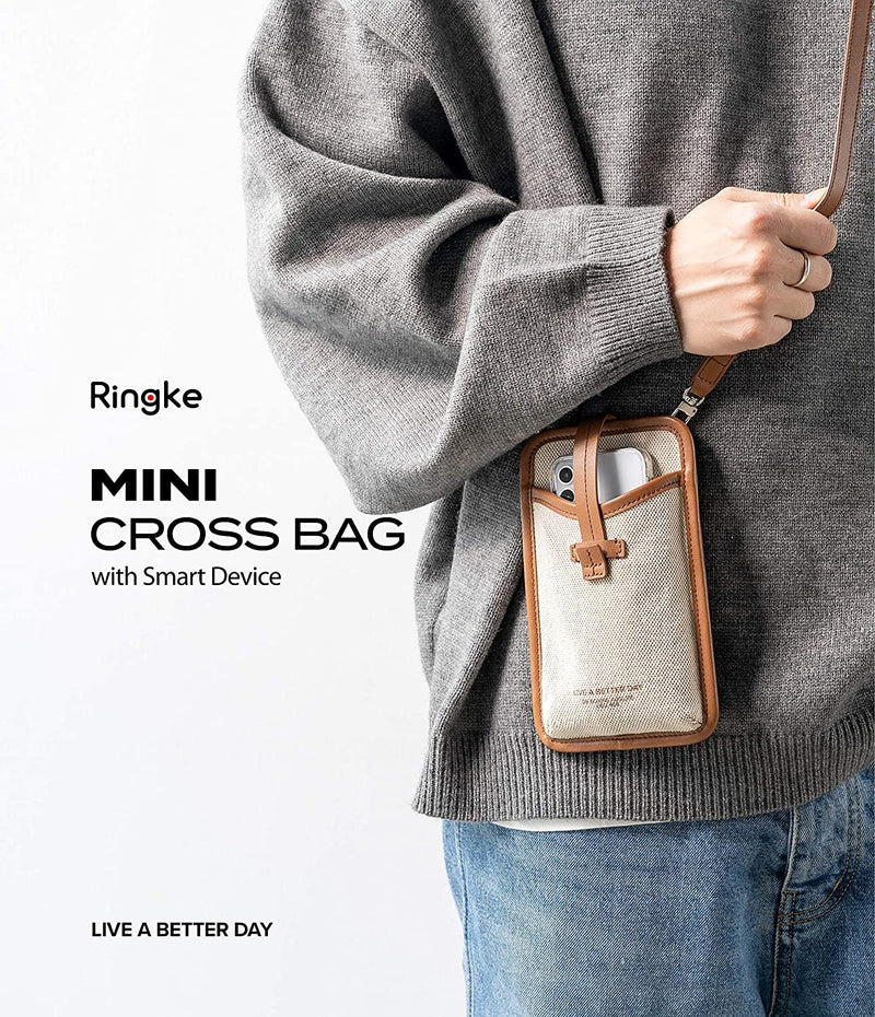 Ringke Mini Cross Bag Canvas Purse for Smartphones