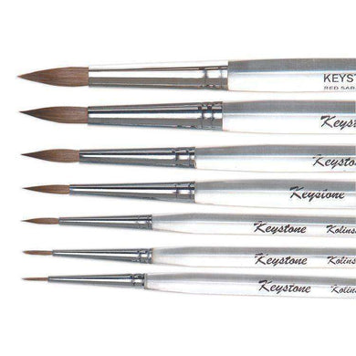 Keystone Kolinsky Ceramist Brushes - Mega Dental Art Supply