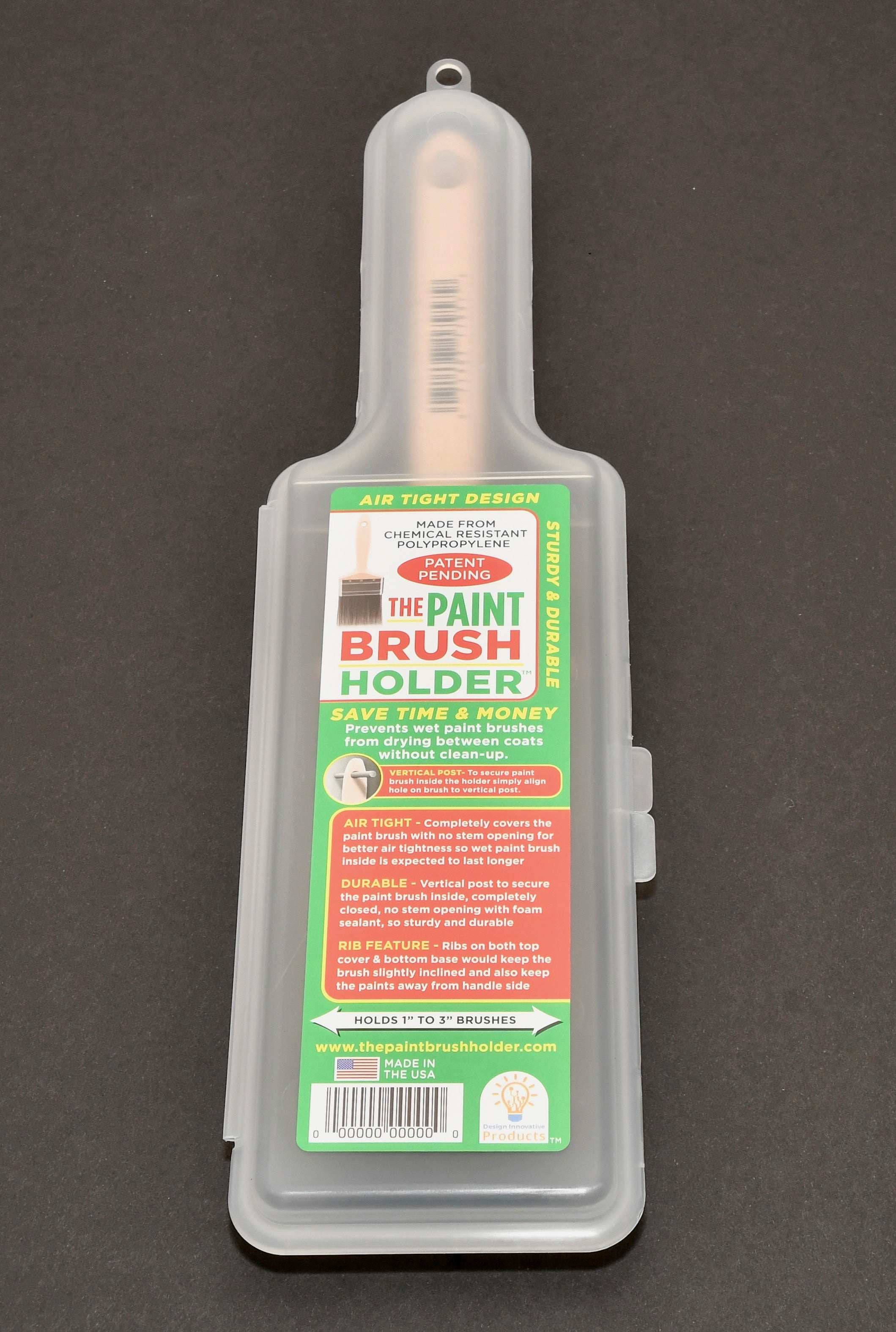 The Paint Brush Holder To Store Wet Brushes 1/2-3 Inch For >30 Days (20 Pack)