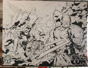 Justice League and Darkseid Print