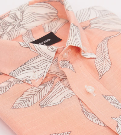 Friday Shirt Club White Sand Short-Sleeve Pink Shirt