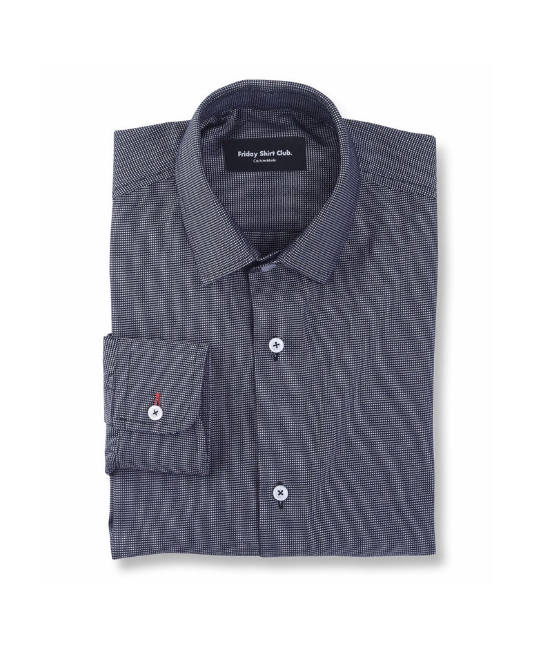 Black Gray Checkered Mens Casual Shirt Flatlay