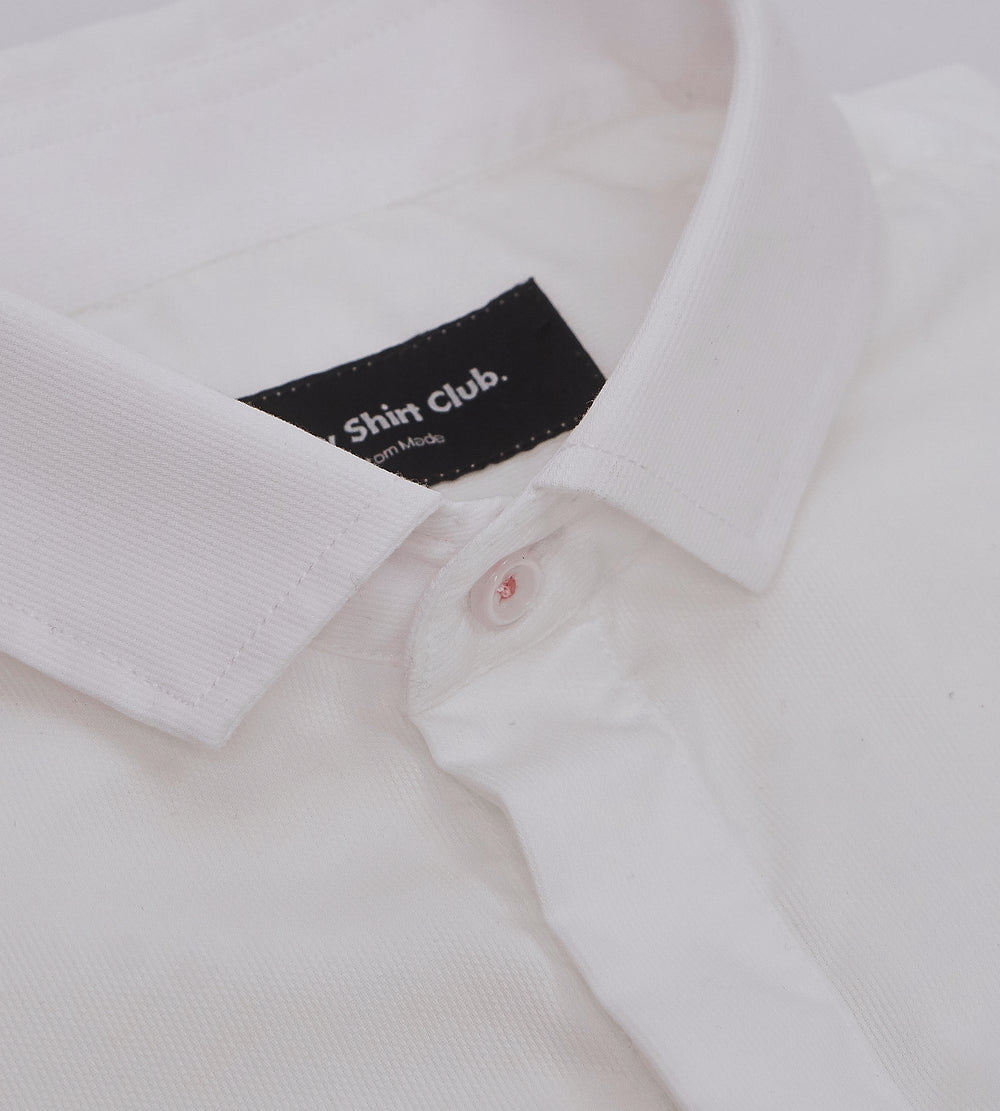 The Gatsby White Casual Shirt Collar