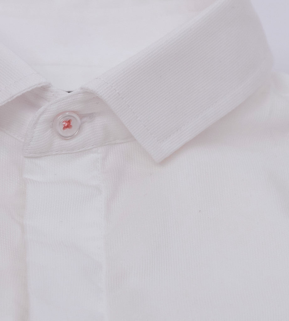 The Gatsby White Casual Shirt Placket
