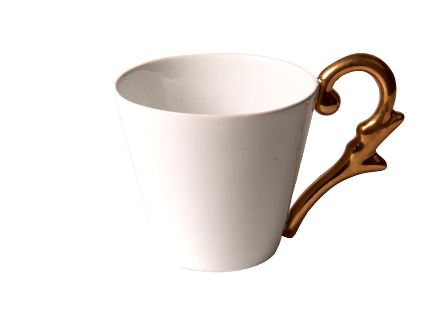 Mug Handle Gold-White