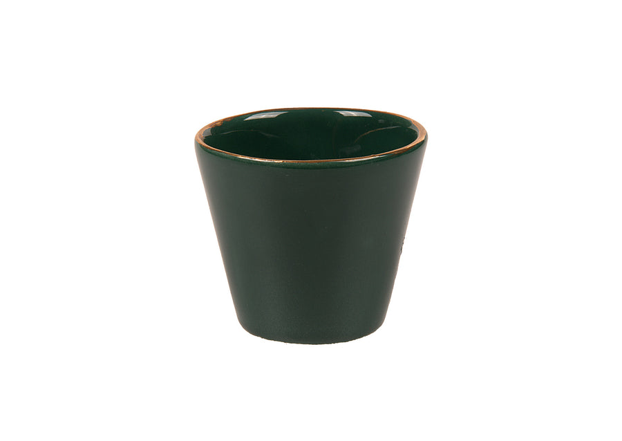 Turkish Coffee Cup Round Gold-Green
