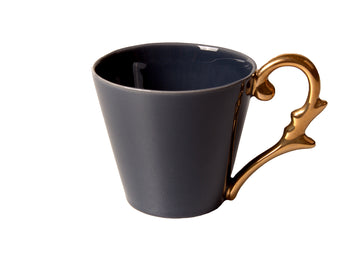 Mug Handle Gold-Navy Blue