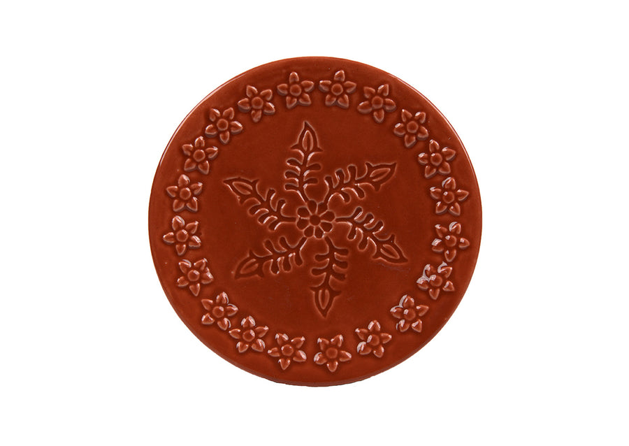 Saucer (Turkish  Coffee) -Coral