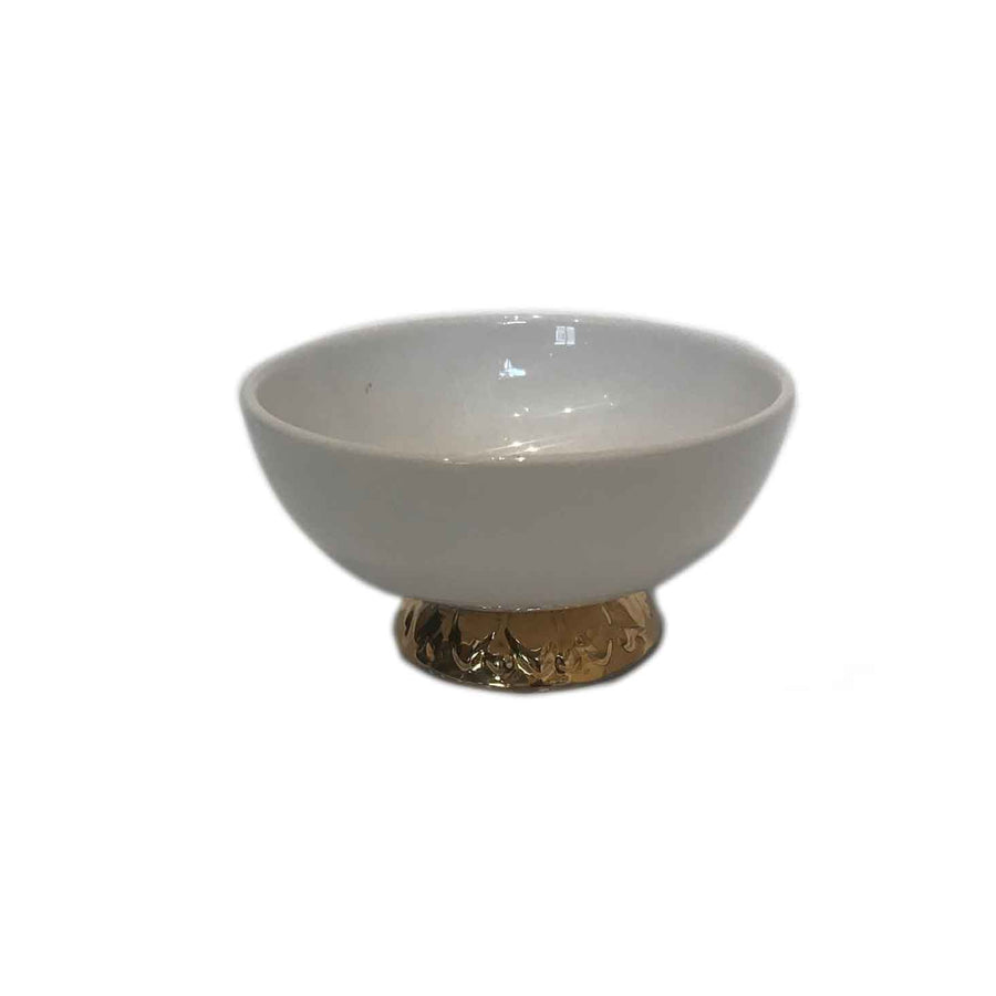 Mini Bowl Gold-White