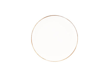 Bread Plate Gold-White