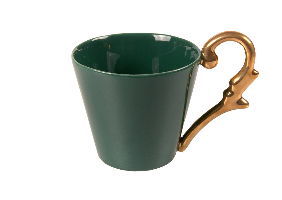 Mug Handle Gold-Green