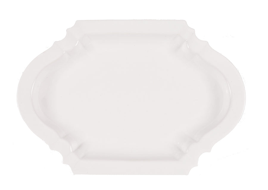 Lotus Oval Platter-White