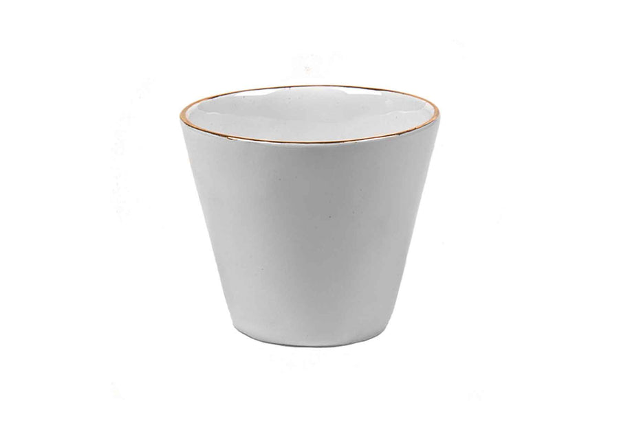 Double Espresso Round Gold Cup-Coral