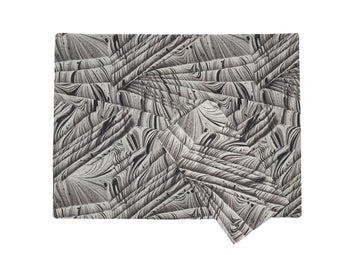 Place Mat + Napkin -Black&White Marbled