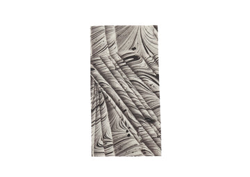 Napkin-Black&White Marbled