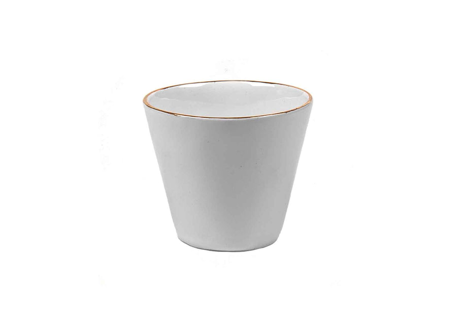 Turkish Coffee Cup Round Gold-White
