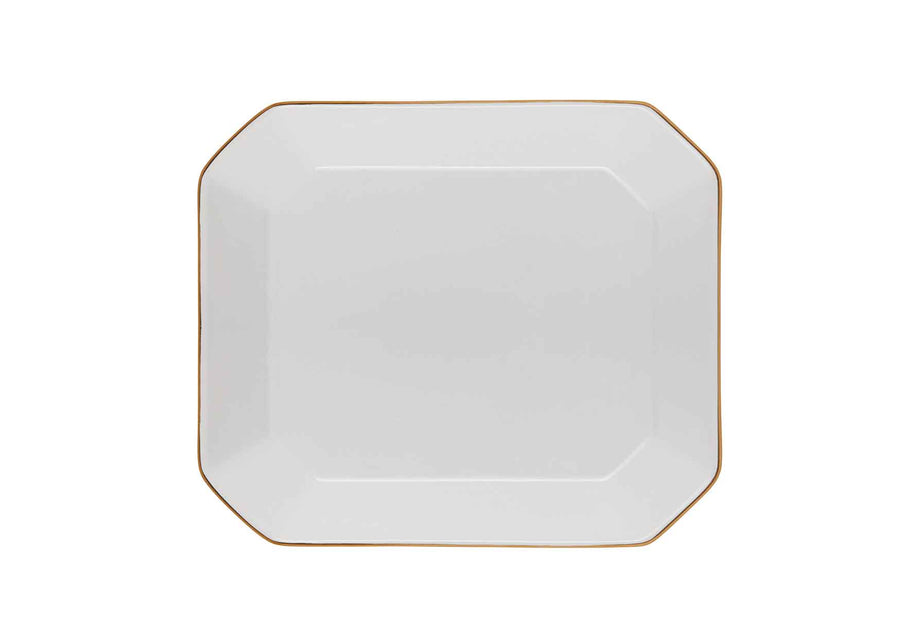 Octave Plate Medium Gold-White