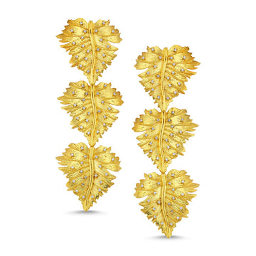 Ophelia Triple Leaf Earrings