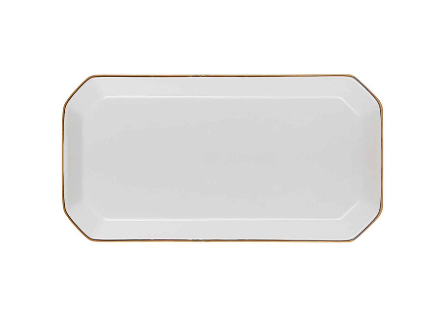 Octave Plate Small Gold-White