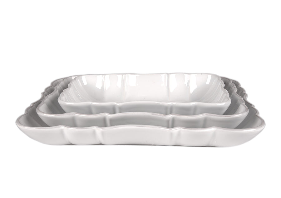 Deep Platter Medium-White