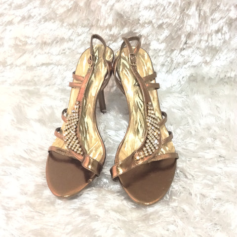 Gold and Jewel encrusted Delicacy Lizzy Heels