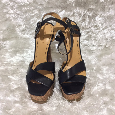Black NinenWest Magnetic Platform Sandals