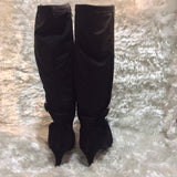 Black Knee- High Boots by- Annie Shoes