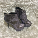 Lollipop Glitter Covered platform ankle booties