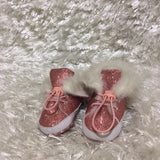 Pink Glitter covered/Fur lined Esprit girls shoes