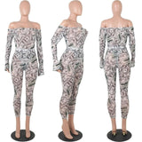 Money Dollar Print Sheer Mesh Jumpsuit