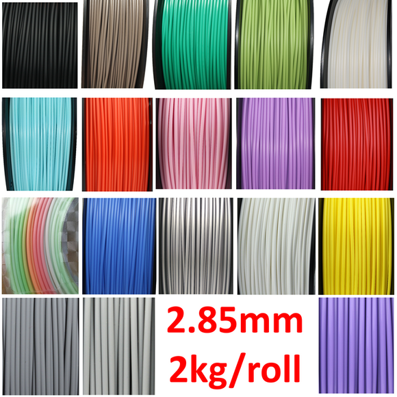 2.85mm 2KG FilaCube 3D Printer PLA 2 filament 18 Colors 2 kilogram/spool multi-kilogram 3mm