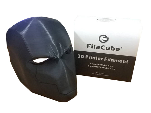 Black 1.75mm 1KG FilaCube 3D Printer PLA 2 filament