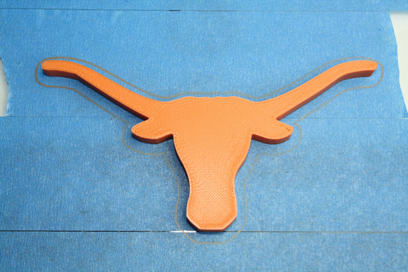 Burnt Orange (PMS 159C , Longhorn Orange) 1.75mm 1KG FilaCube 3D Printer PLA 2 filamentlong horn ut university of texas austin pms 159