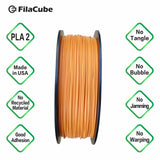 1.75mm 1KG Orange PMS 159C FilaCube 3D Printer PLA 2 filament burnt orange longhorn long horn ut university of texas austin pms 159