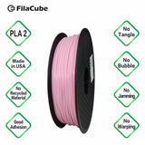 1.75mm 1KG Pink FilaCube 3D Printer PLA 2 filament
