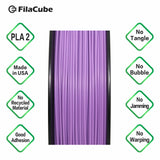 1.75mm 1KG Purple FilaCube 3D Printer PLA 2 filament