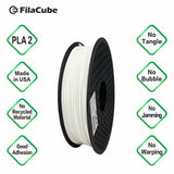 1.75mm 2KG-spool White FilaCube 3D Printer PLA 2 filament  pure white multiple kilograms multikilo