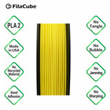 1.75mm 1KG Yellow FilaCube 3D Printer PLA 2 filament