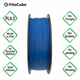Classic Blue (Color of the Year 2020)  1.75mm 1KG FilaCube 3D Printer PLA 2 filament PANTONE 19-4052