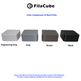 1.75mm 1KG Engineering Gray (light grey) FilaCube 3D Printer PLA 2 filament cool gray 6c multiple kilograms multikilo