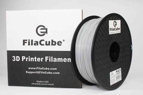 2.85mm 1KG Engineering Gray (light grey) FilaCube 3D Printer PLA 2 filament 3mm
