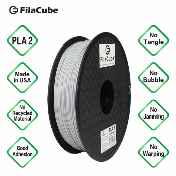 1.75mm 2KG-spool Engineering Gray (light grey) FilaCube 3D Printer PLA 2 filament cool gray 6c multiple kilograms multikilo