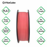 Hot Pink (PANTONE 17-1937)  1.75mm 1KG FilaCube 3D Printer PLA 2 filament