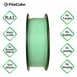 Mint Green 1.75mm FilaCube 3D Printer PLA 2 filament 1KG